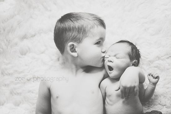 Brother newborn photo