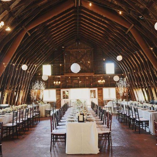 Barn Reception Site // Amy Carroll Photography // www.theknot.com/...