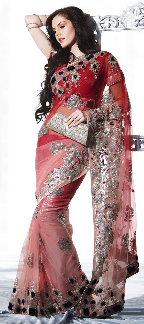 colour combination of red and marron,pink and majenta is awesome....Try it.....Available at-> www.indianwedding...