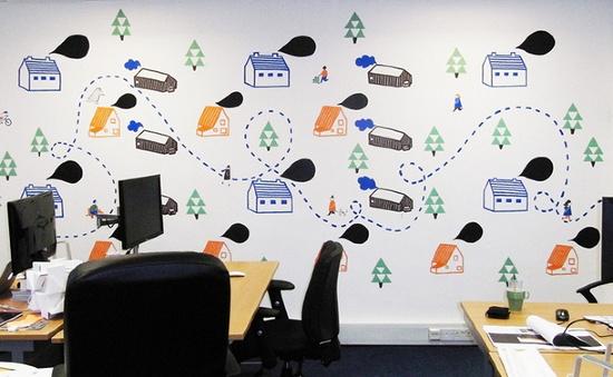 Potato - Office Mural -  #office #branding #walls #decor #graphics #environmental