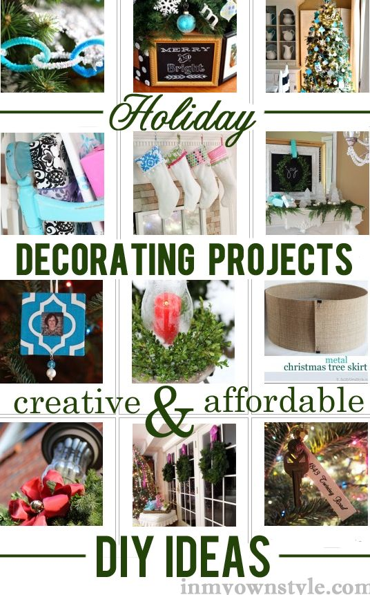 Holiday Decorating Ideas and Projects from mantels to ornaments and more.
