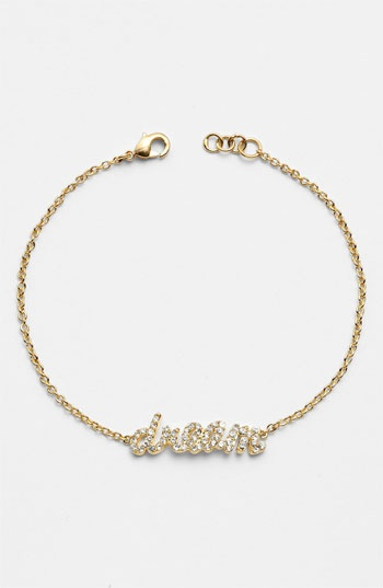 Ariella Collection 'Messages - Dream' Script Station Bracelet available at #Nordstrom