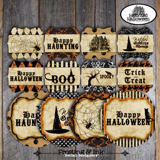Halloween printables. Cute!!  #halloween