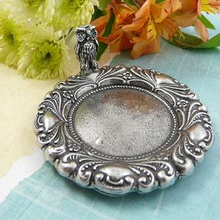 Pewter owl jewelry dish