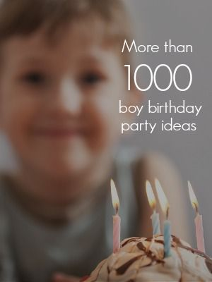 Great ideas for boys only!!!!! More than 20 boy parties shared every day.