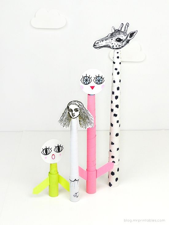 DIY: telescopic paper toys