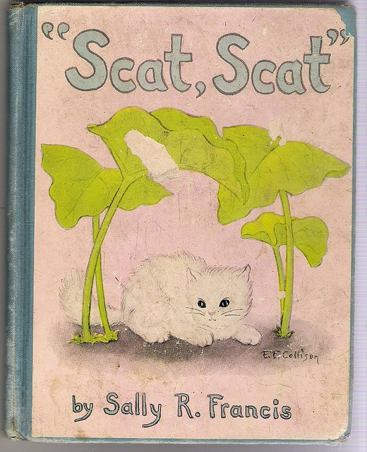 """Scat, Scat"" by Sally R. Francis - book cover"