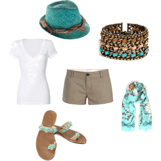 Cute turquoise outfit!