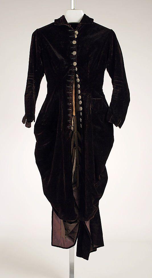 Dress  Date: 1870s Culture: American Medium: silk