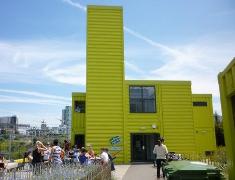 shipping container cafe london olympic site