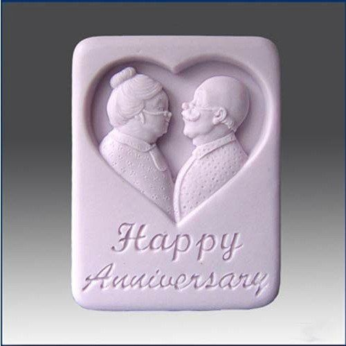 Wedding Anniversary Silicone Handmade Soap Mold Chocolate Mold