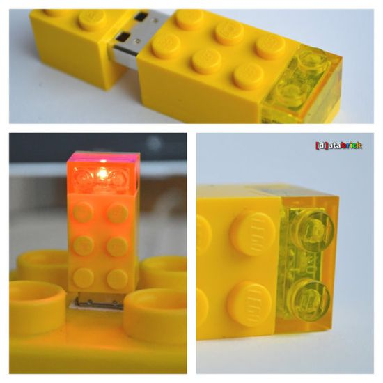 8GB USB Flash Drive Brick 2x31 LEDBrick 6 available by databrick, $59.95