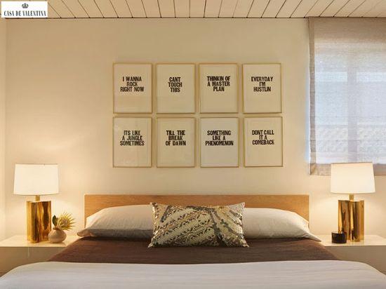 Via Casa de Valentina www.casadevalenti... #details #interior #design #decoracao #detalhes #quarto #bedroom #mensagens #idea #ideia #casadevalentina
