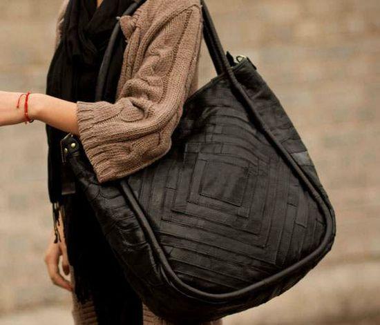 Genuine Black Handbag by Neo Handmade Leather Bags