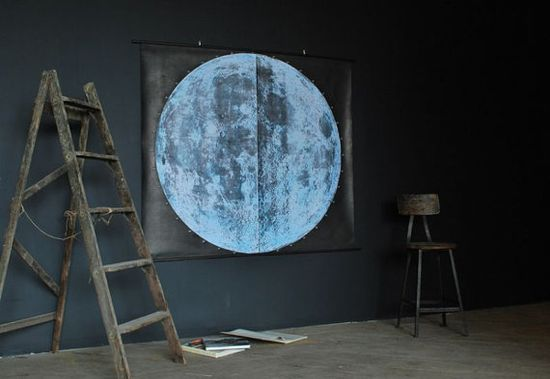 Very Large Moon Chart signed by AGC916 on Etsy, $ 875.00