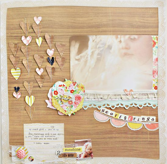 Gorgeous! #scrapbook #layout #scallop #hearts