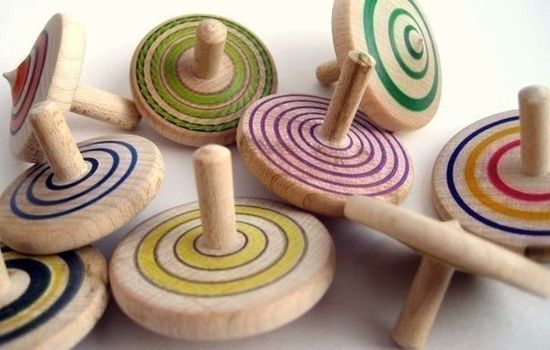 hand turned wooden tops