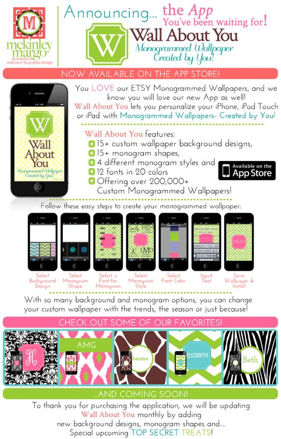 maybe the best app ever...monogrammed wallpaper for your phone