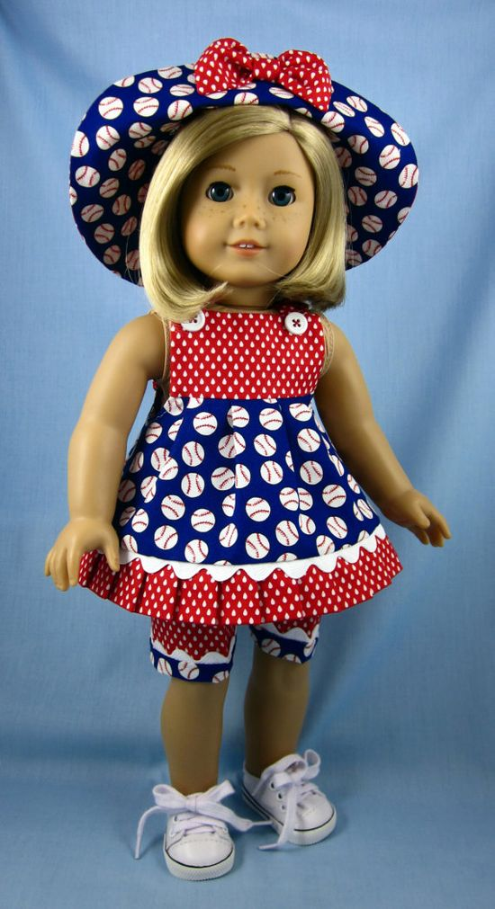 American Girl Doll Clothes   Three Piece by SewMyGoodnessShop, $24.00
