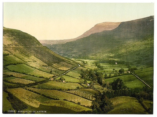 This is where I live....County Antrim, Northern Ireland. From the Library of Congress