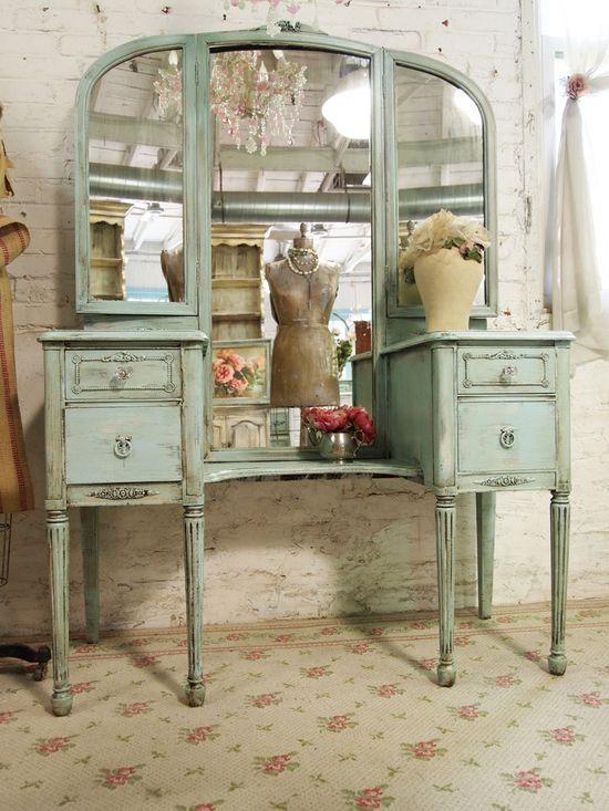Vintage Painted Vanity