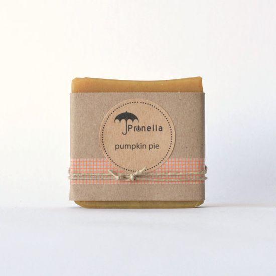Pumpkin Pie Handmade Soap ::  5 oz. bar of vegan cold process soap made in Portland, Oregon by prunellasoap