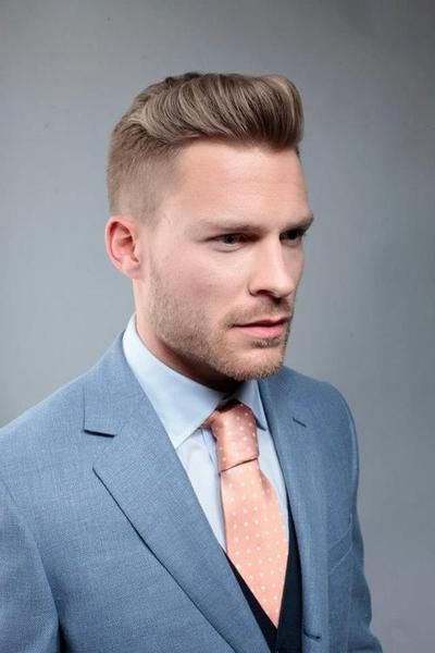 Men's fashion #men #fashion #man #suit #gray #tie #pink #style #clothing #clothes