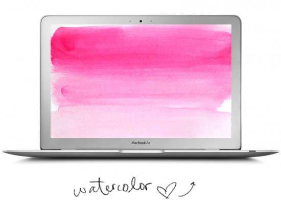 Pink Ombre Watercolor Desktop Wallpaper #desktop #wallpaper #pink #ombre #watercolor
