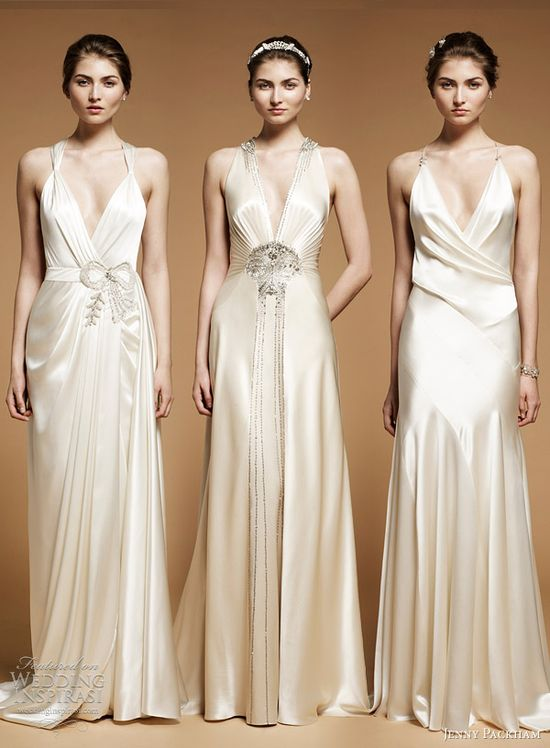 jenny packham 2012 wedding dresses - Ada, Imari and Drew sleek art deco style 1920s 1930s gowns