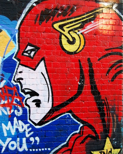Superman Graffiti by christopherwalmsley, via Flickr