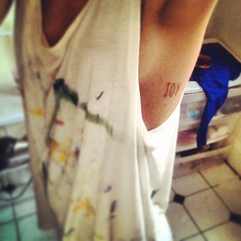 New tat! #joy #tattoo