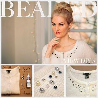 Beaded Sweater DIY : DIY Fashion by Trinkets in Bloom