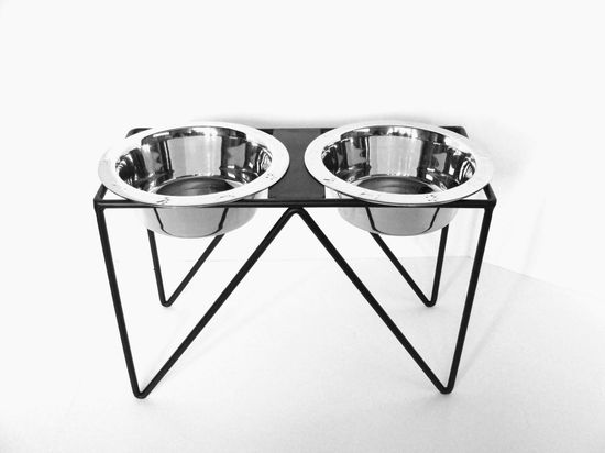 If you've ever wanted your dog's food and water bowls to match your Eames chair, you're in luck.