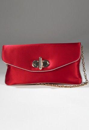 Handbags - Full Satin Twist Lock Handbag from Camille La Vie and Group USA