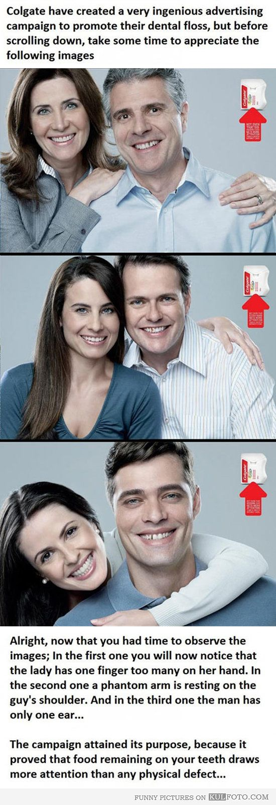 Ingenious advertising campaign - Funny ads by Colgate to prove that food remaining on your teeth is really something to worry about.