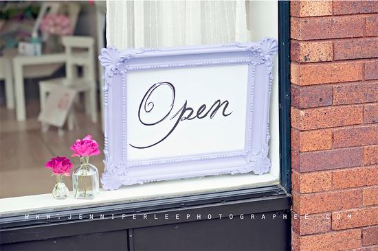 Cute open sign
