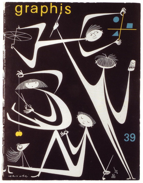 Olle Eksell - 1962 Graphis magazine cover