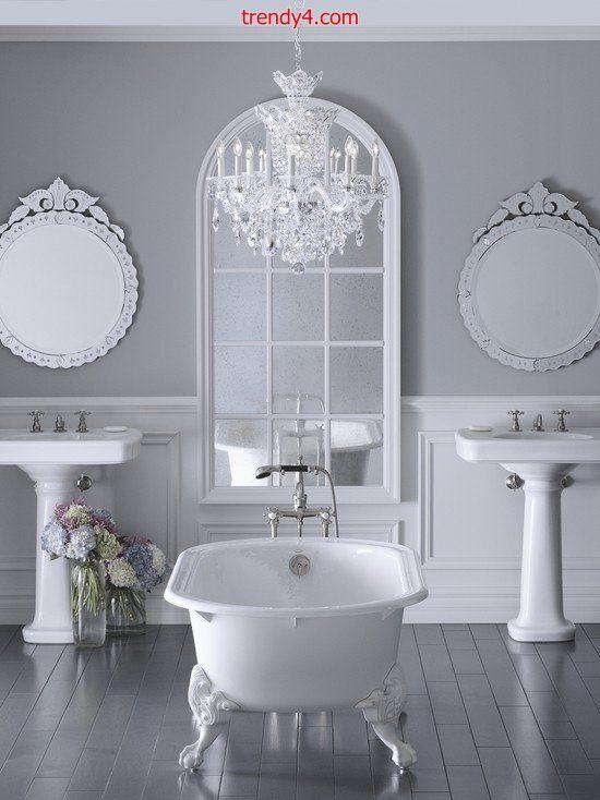 luxury large space bathroom interior design 2014