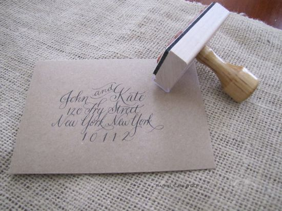 $40 custom calligraphy stamp . gorg.eous.