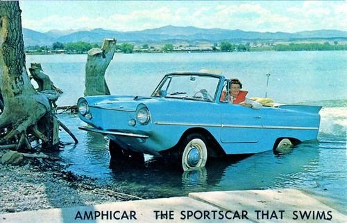 Amphicar, the sports car that swims.