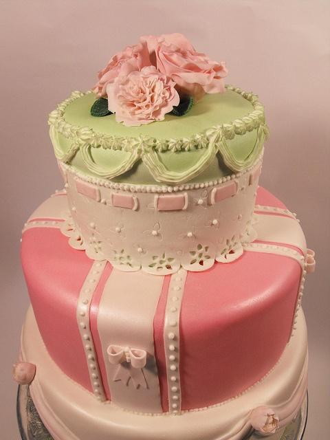 Vintage Bridal Cake