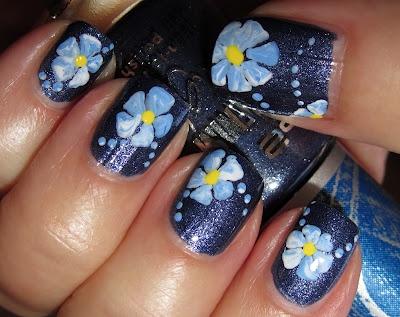 Denim flowers