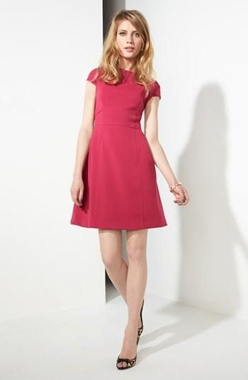 Pink fit & flare dress please!