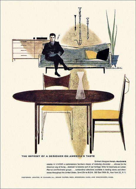 Linear/Paul McCobb Furniture Ad, 1958