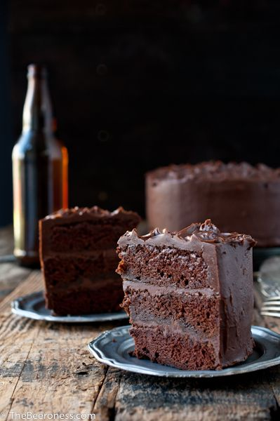 Epic Chocolate Stout Cake with Chocolate Bourbon Sour Cream Frosting