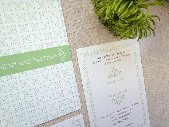 Delicate pattern and a beautiful monogram.