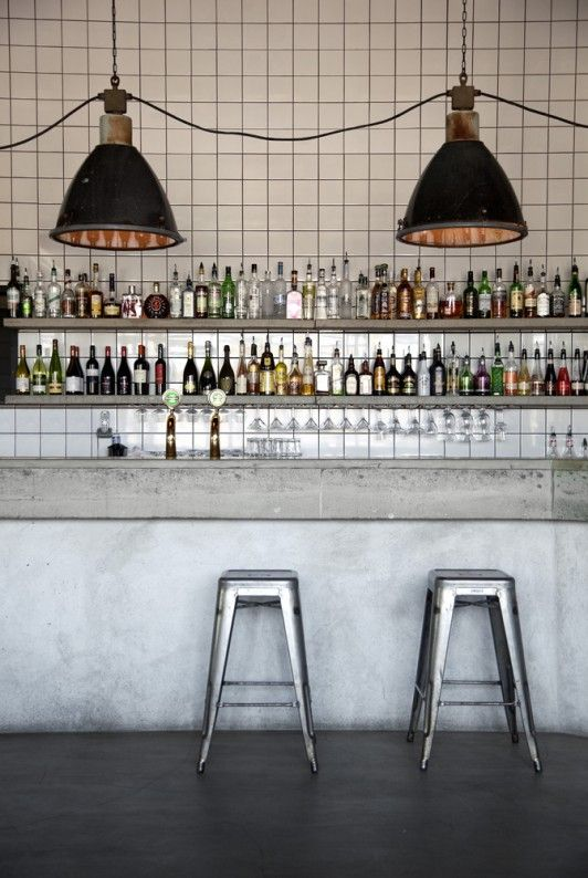 Restaurant Nazdrowje in Stockholm. Interior design by Richard Lindvall, beautifully designed, love the lighting