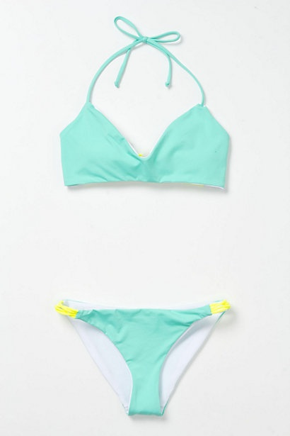 mint + neon bikini // anthropologie -  :)