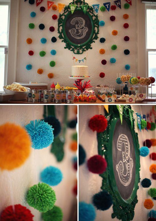 DIY Colorful birthday party