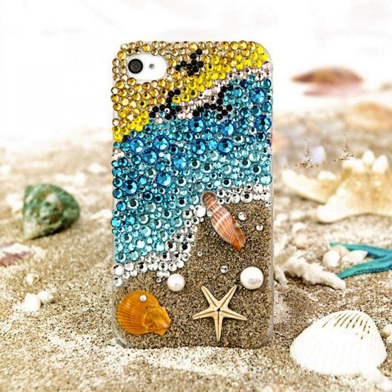 beautiful coast crystal iphone case